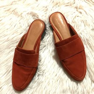 Halogen leather suede leather mules size 7